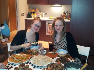 LOVE Chinese food, here with my sister after preparing a feast together