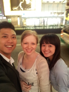 With friends in HK
