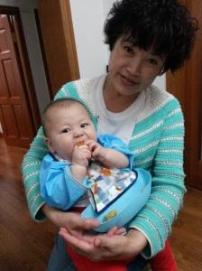 Baby Z and nainai 奶奶